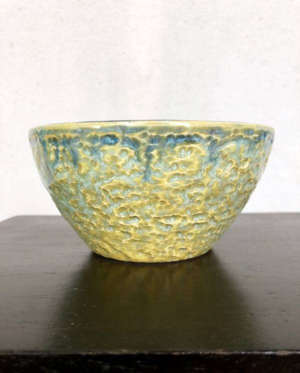 Blue and Yellow Dappled Bowl